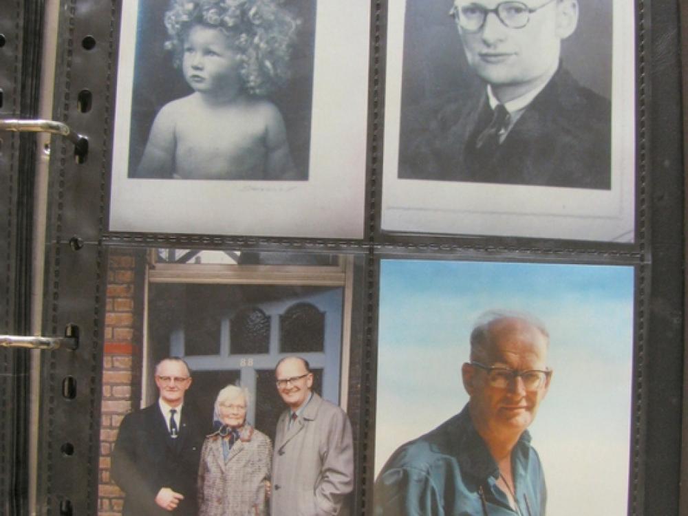 Portraits of Arthur C. Clarke's family through the years