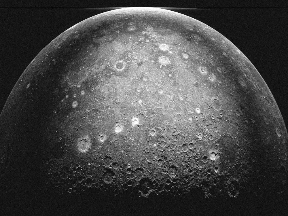 Radar Image of the Moon