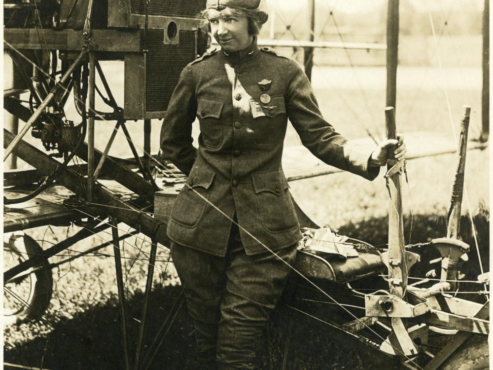 Ruth Law in Military Uniform