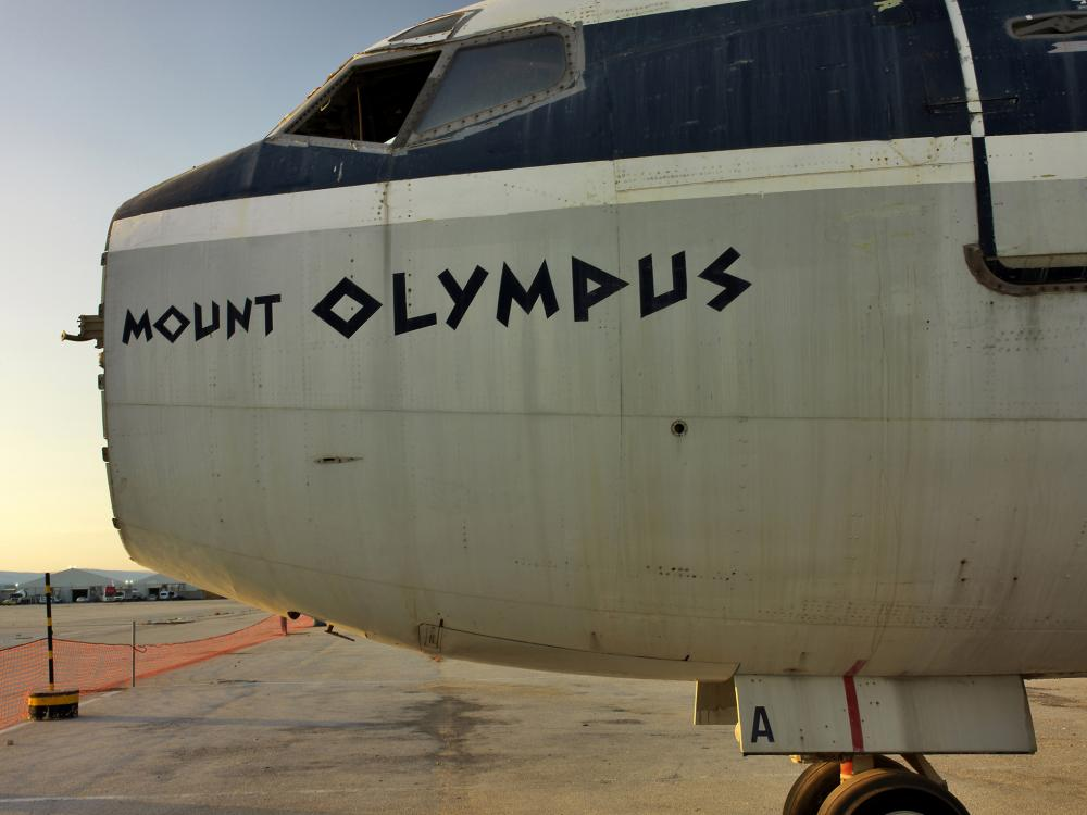 A view of the Ellinikon International Airport in Athens, Greece, which closed in 2001. This photo of of an abandoned aircraft was taken in 2007.