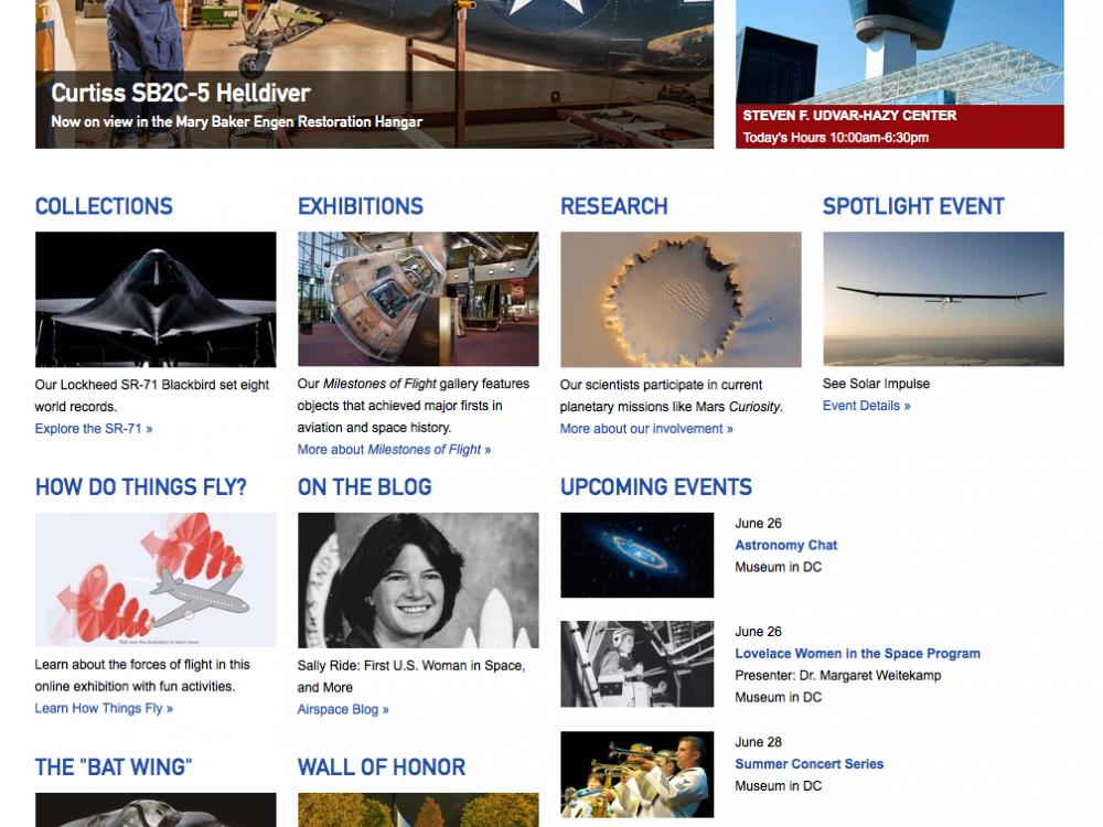 National Air and Space Museum Website
