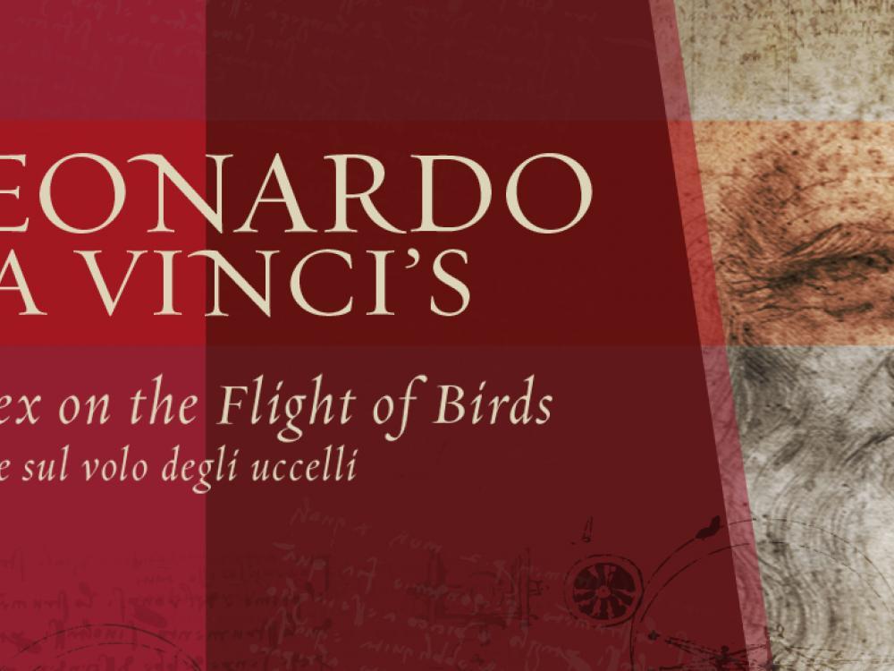 Exhibition Banner for Leonardo Da Vinci's Codex on the Flight of Birds