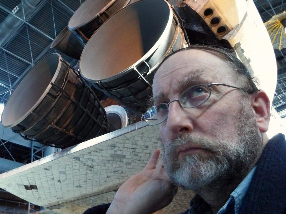 Allan Janus with Space Shuttle Discovery