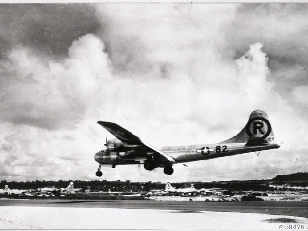Enola Gay Landing at Tinian