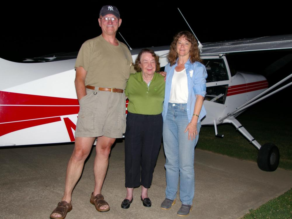 Jerrie Mock Arrives For Pilot Day 2007
