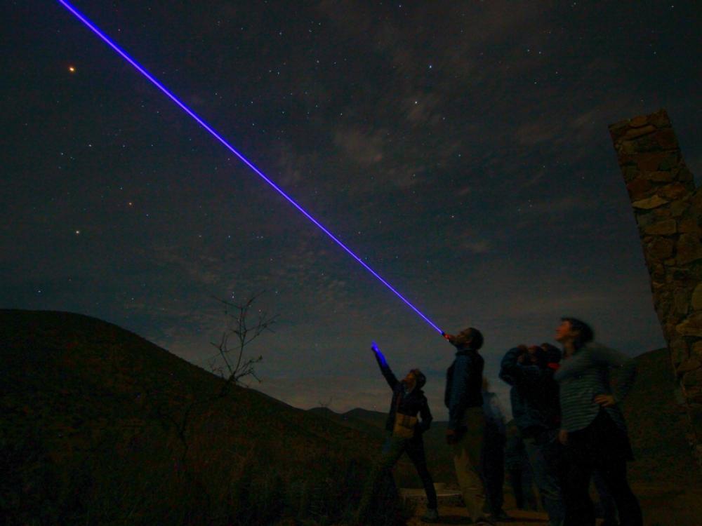 Astronomy education ambassadors stargazing in Chile