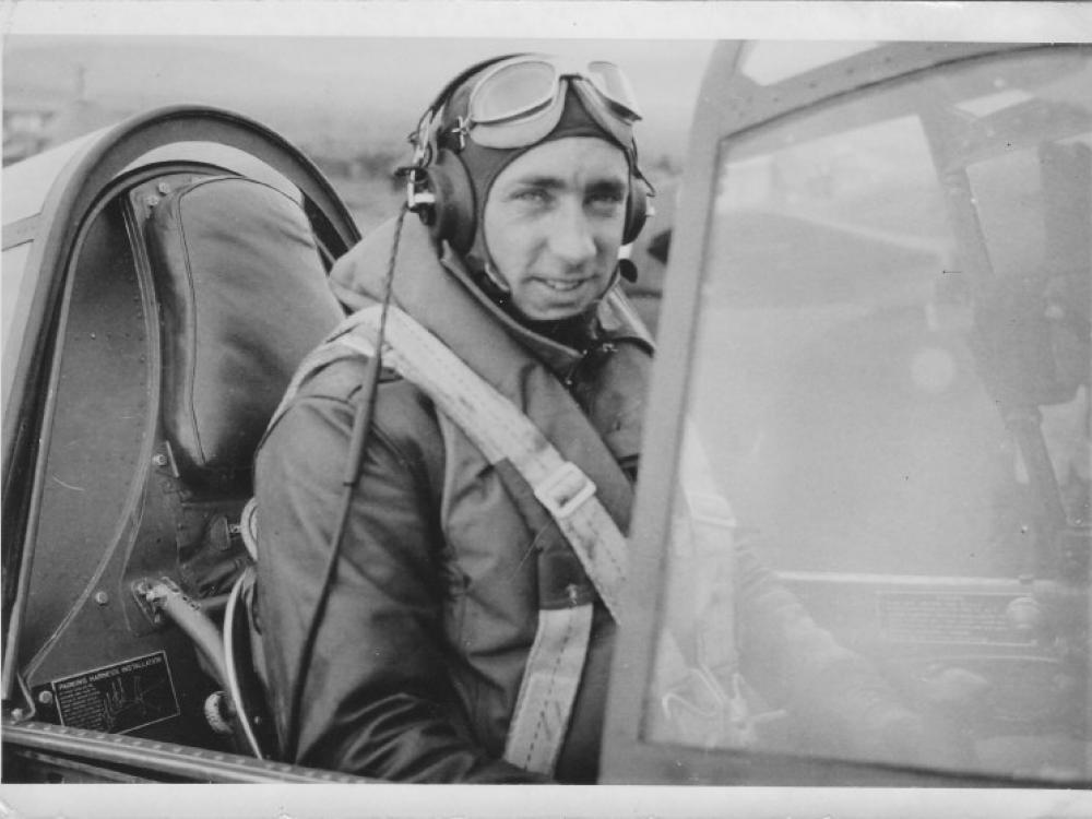 A photo of Flight Lieutenant Robert W. Lynch, Royal Canadian Air Force Squadron 111F