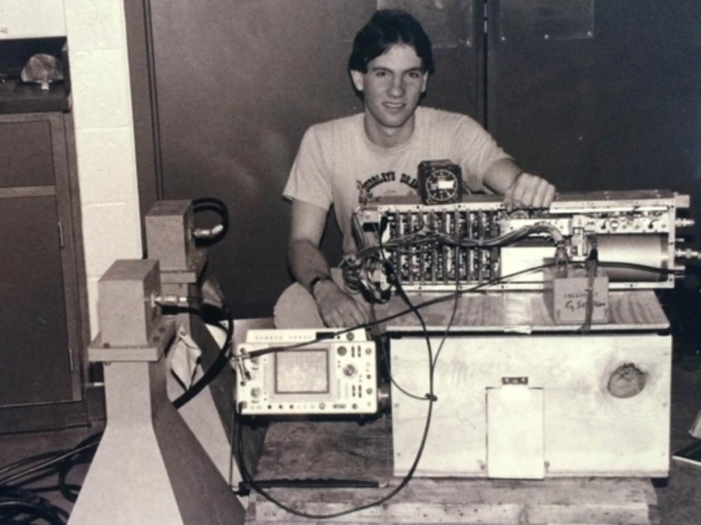 Geophysicist Bruce Campbell with Hand-Built Radar