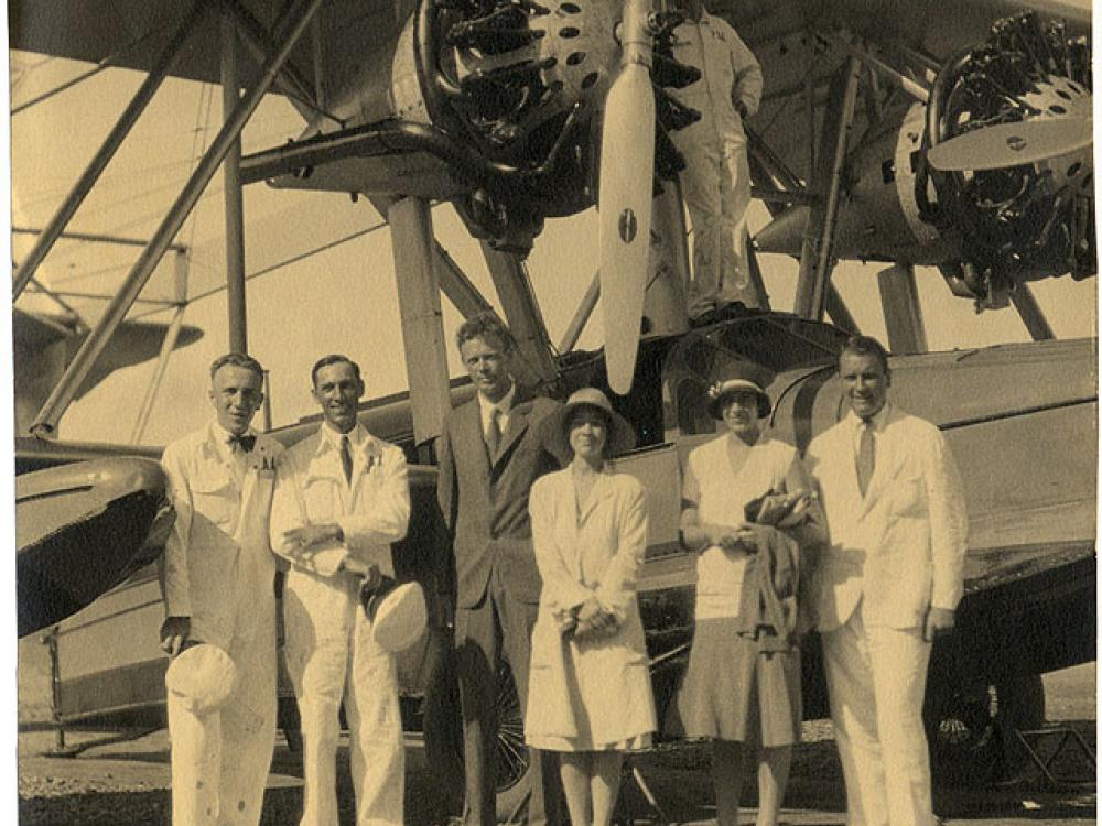 Charles and Anne Lindbergh in France
