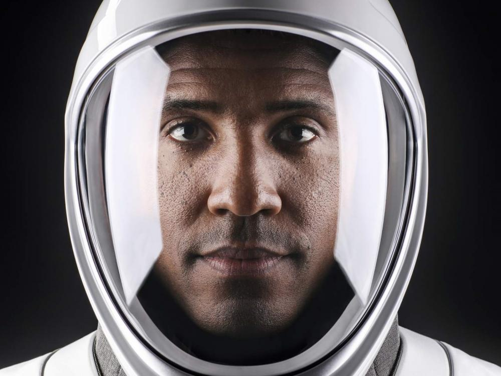 astronaut Victor Glover in SpaceX spacesuit