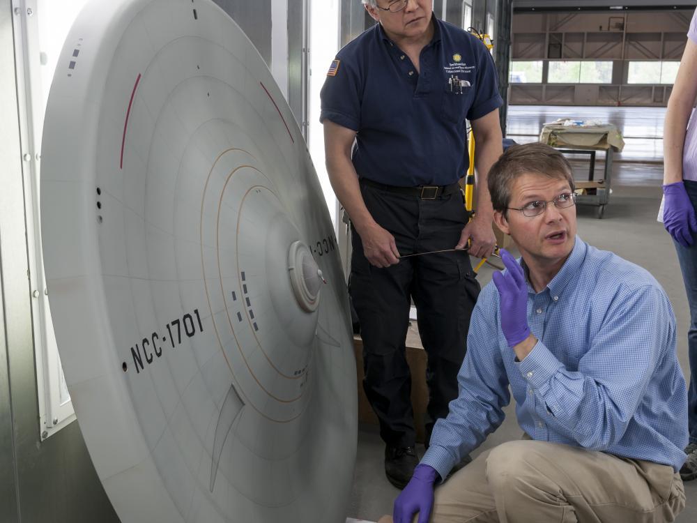 Inspecting the Enterprise Saucer