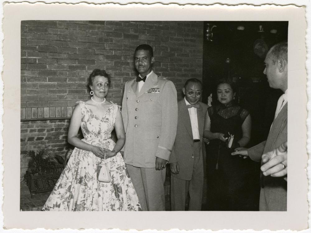 Brigadier General Benjamin O. Davis, Jr. and Wife, Agatha, at Taipei Air Force Officers' Wives Club Event