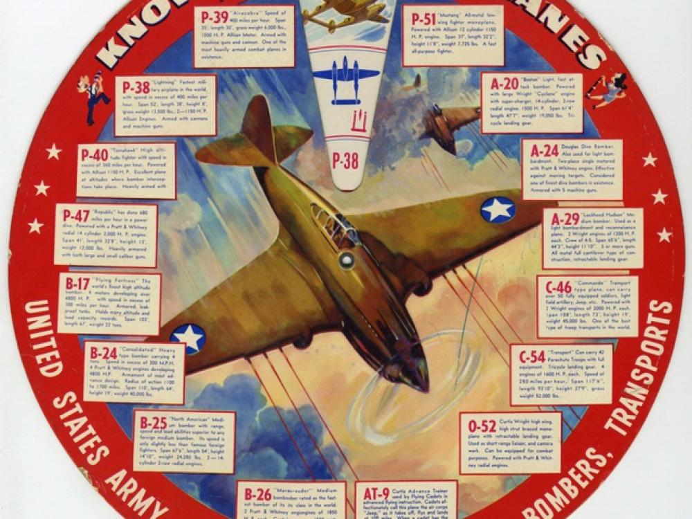 """""""Know Your Airplanes"""" wheel chart"""