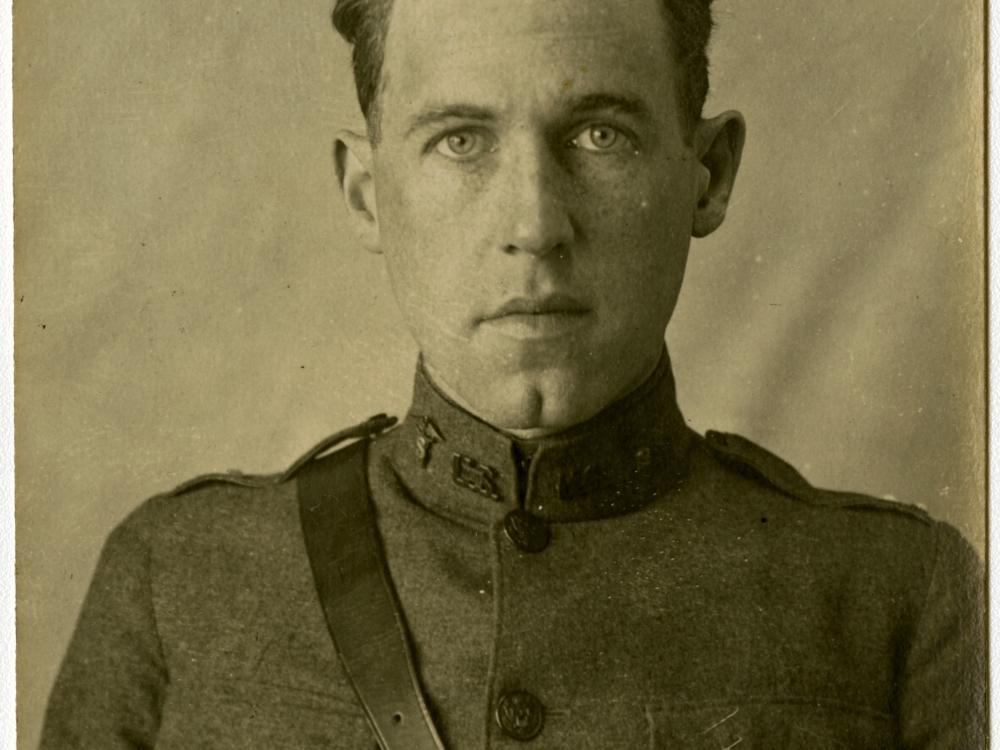 Portrait of Harold F. Pierce, in uniform