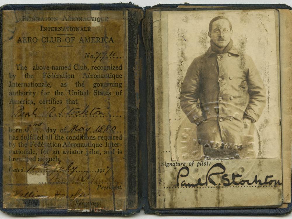 Paul R. Stockton FAI Pilot's License