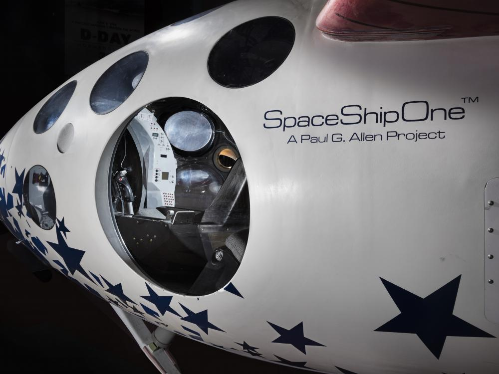 Image of the left side of the nose of SpaceShipOne