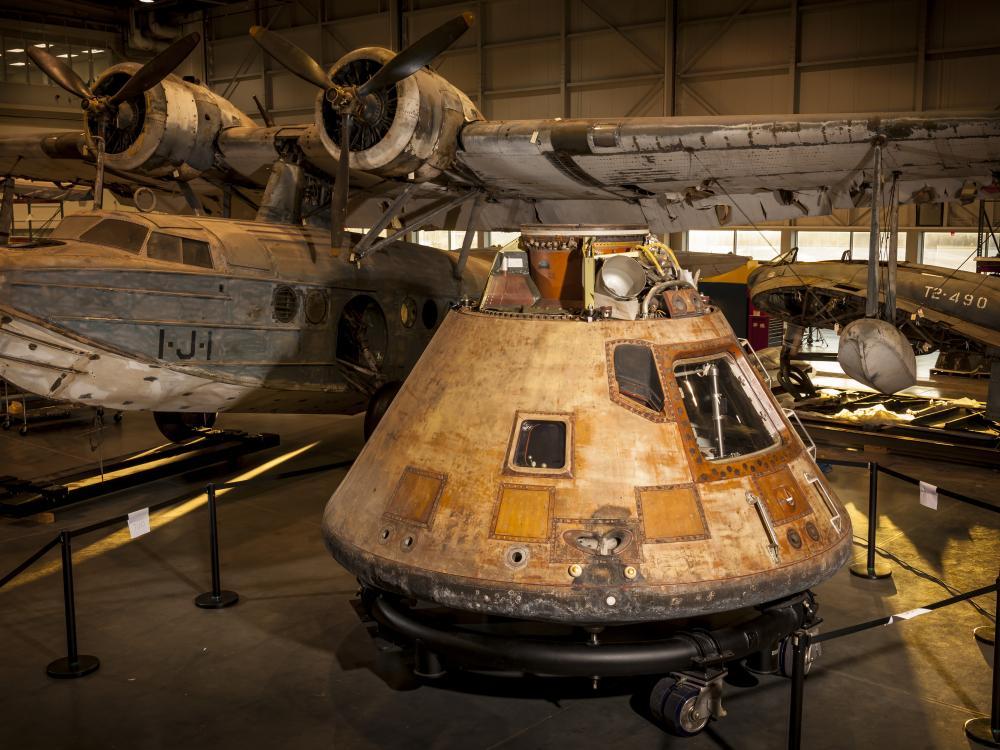 Apollo Command Module Columbia in the Restoration Hangar