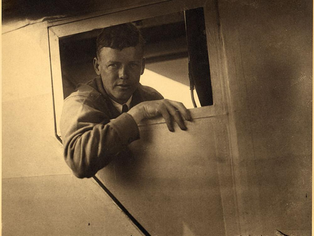 Charles Lindbergh in Spirit of St. Louis
