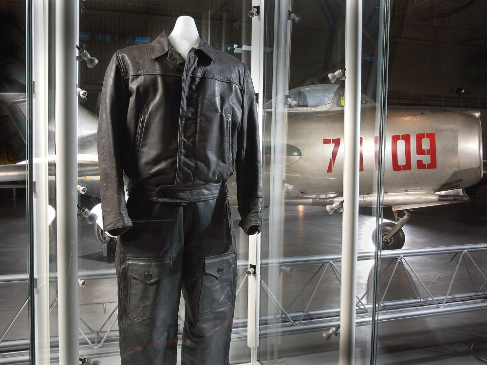 Lt. Franciszek Jarecki flight suit at the Udvar-Hazy Center