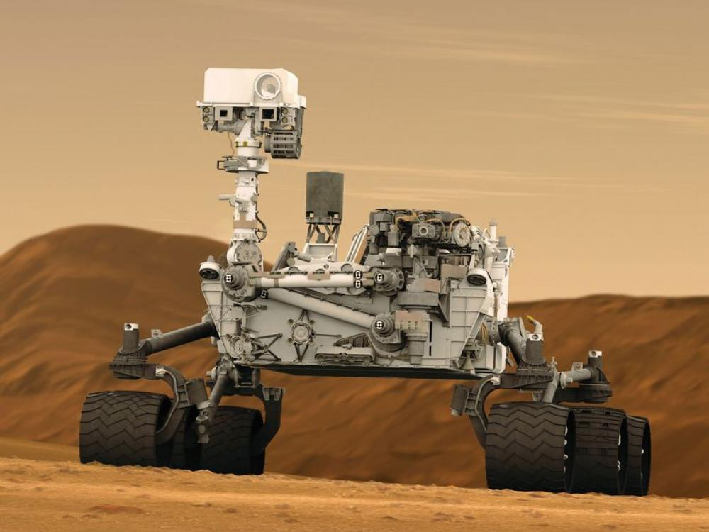 Mars Rover Curiosity in Artist's Concept
