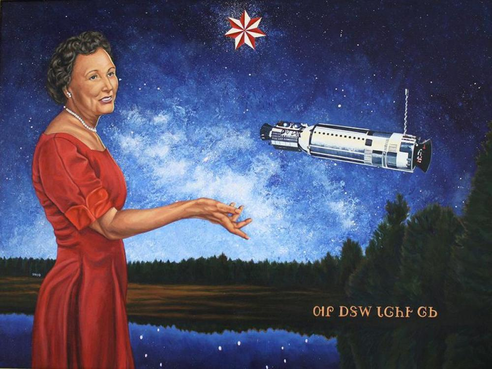 Painting called Ad Astra per Astra by America Meredith, depicting Mary Gold Ross.