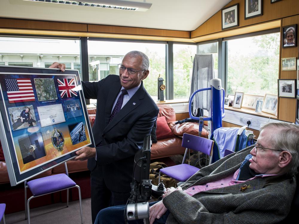 Stephen Hawking with NASA Administrator Charles Bolden