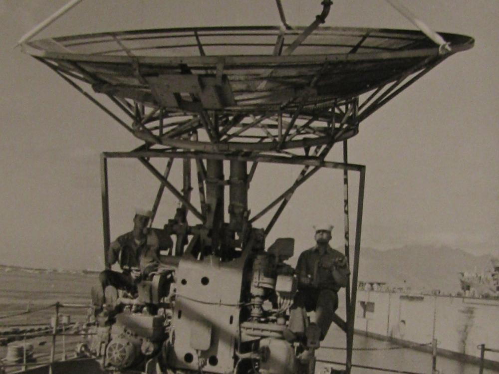 Installing Antenna Aboard the USS Oxford
