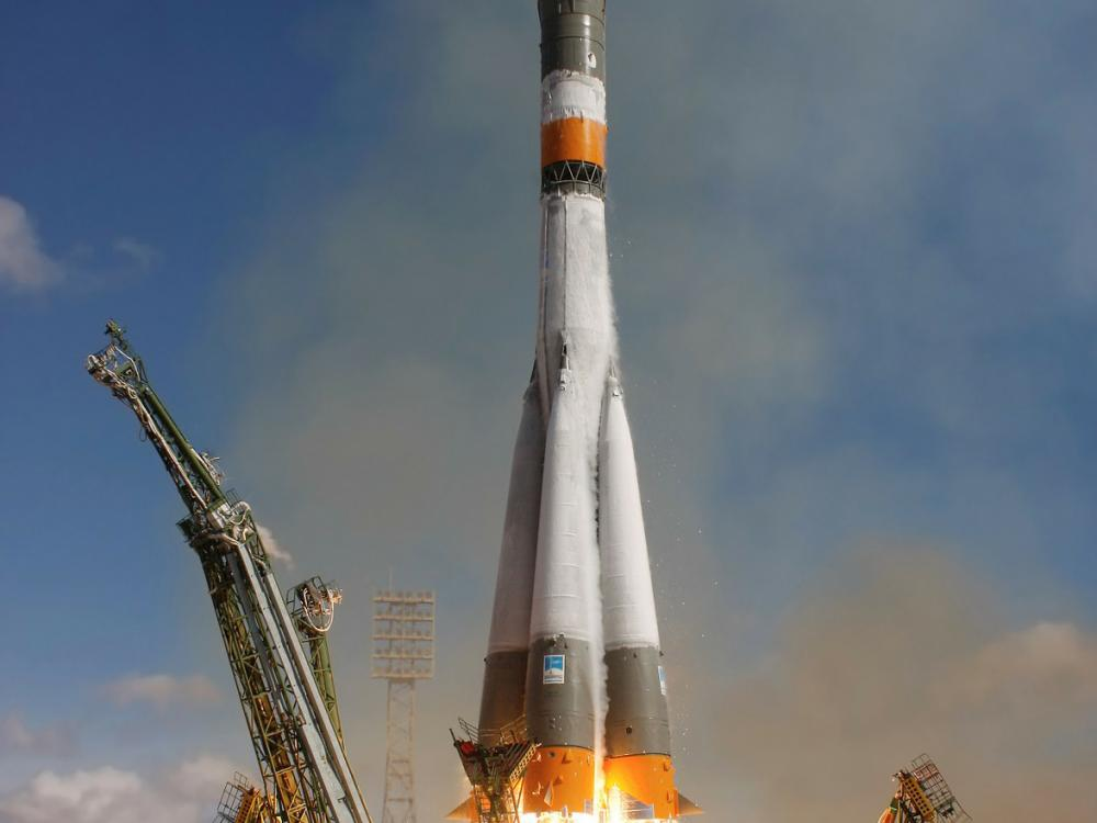 Soyuz Rocket at launch.