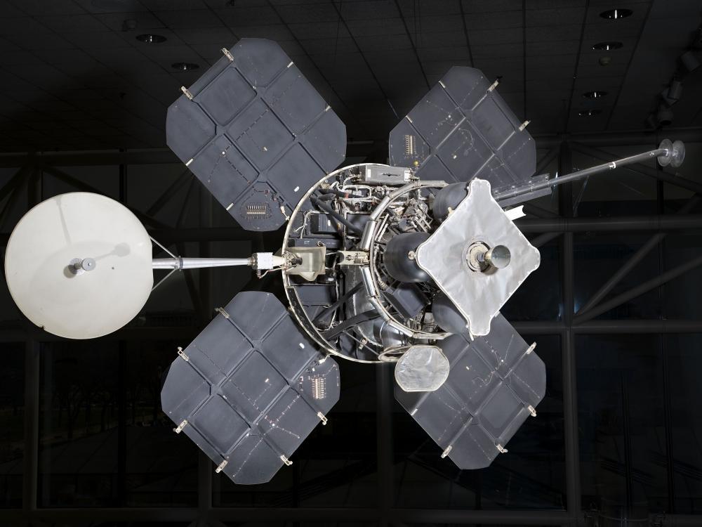 Lunar orbiter on display