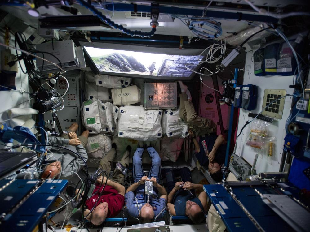The Last Jedi Screening Aboard the ISS