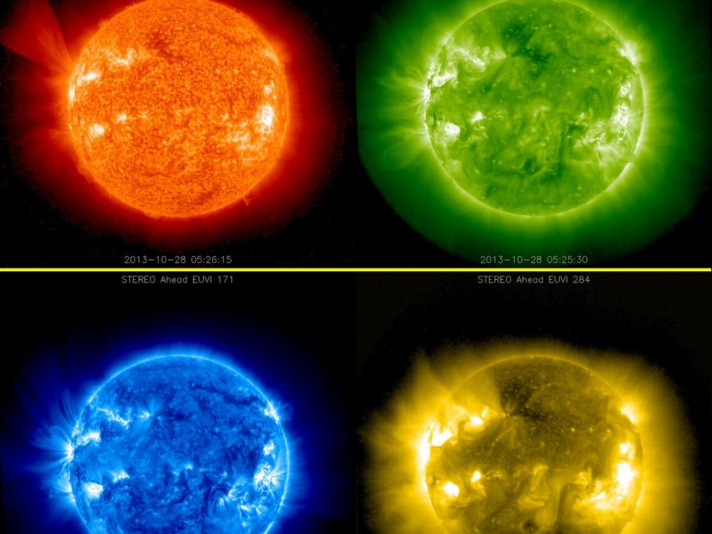 Images of Sun from STEREO