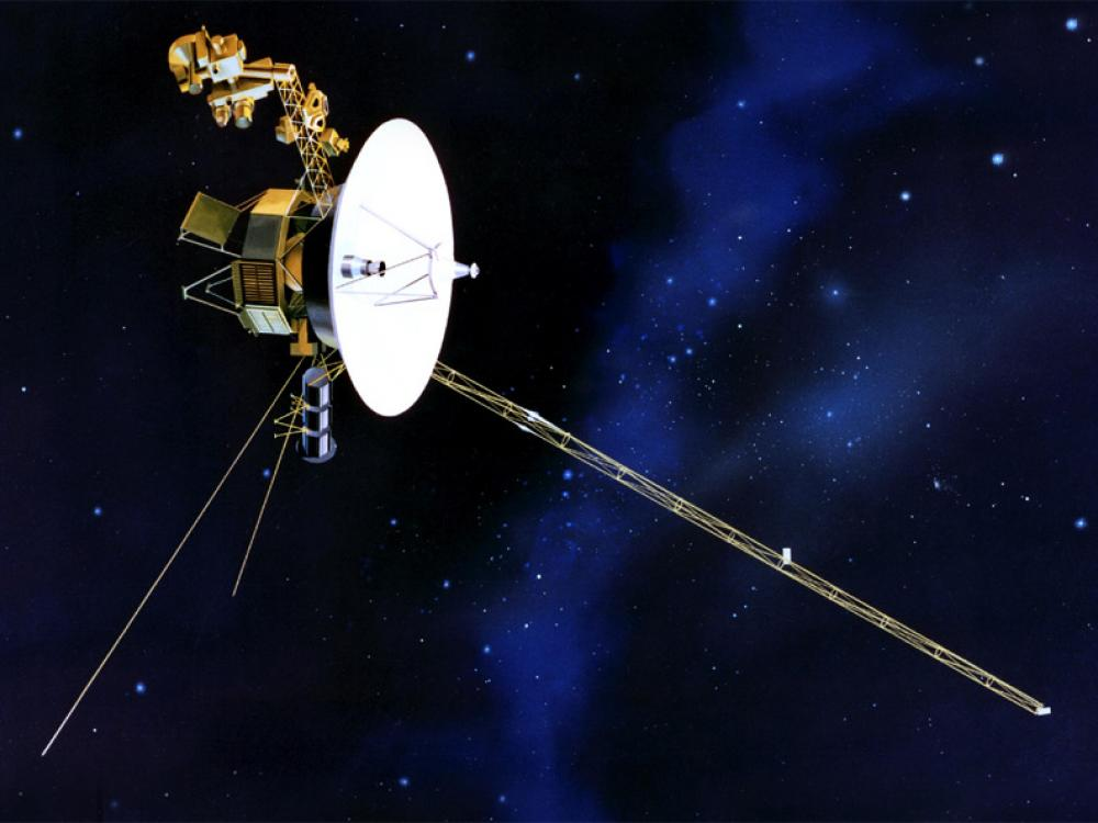 Illustration of the Voyager spacecraft