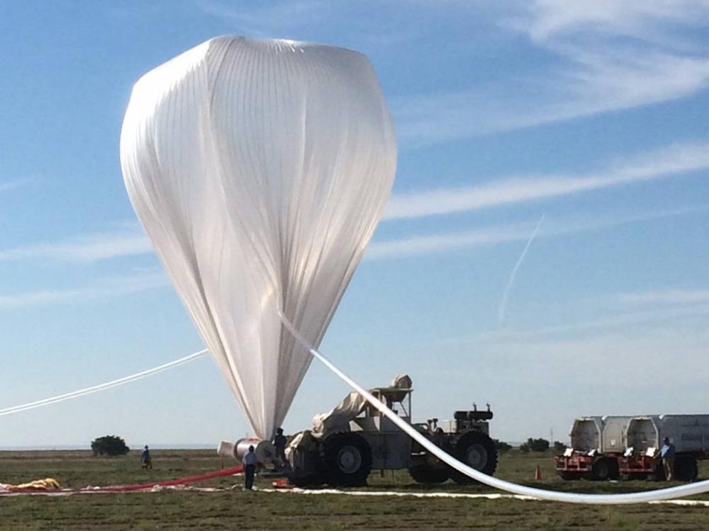 A high-altitude balloon