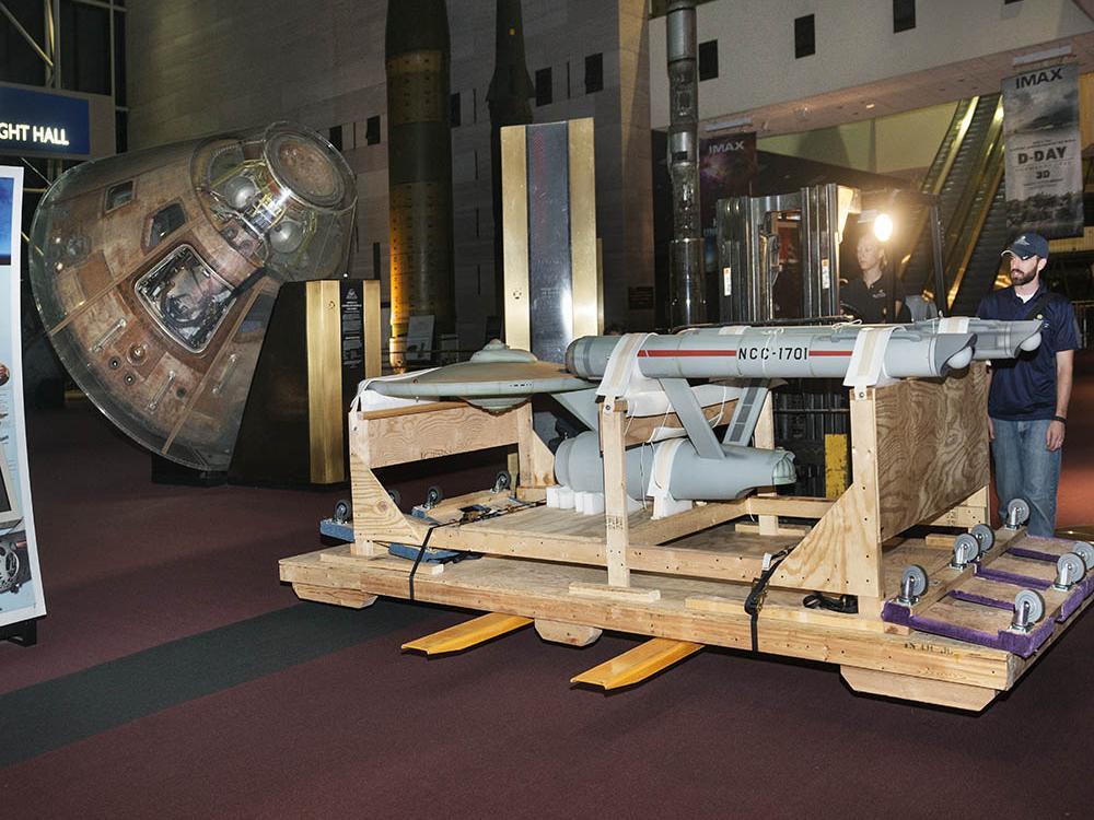 Moving the <em>Star Trek</em> starship <em>Enterprise</em> Studio Model