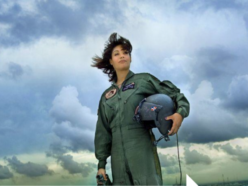 Major Marisol A. Chalas,the first Latina National Guard Black Hawk pilot.