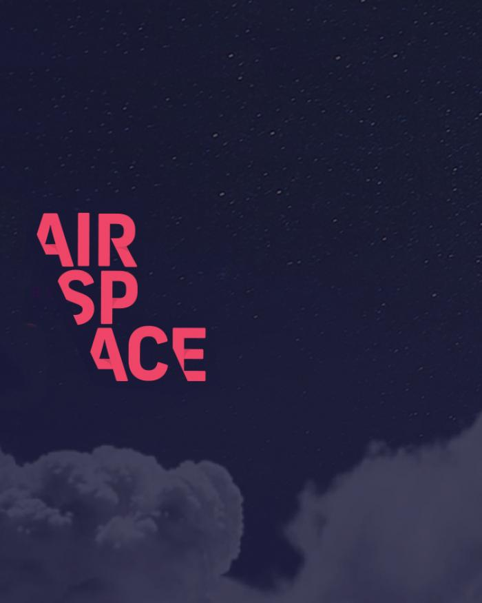 AirSpace logo set against a night sky background.
