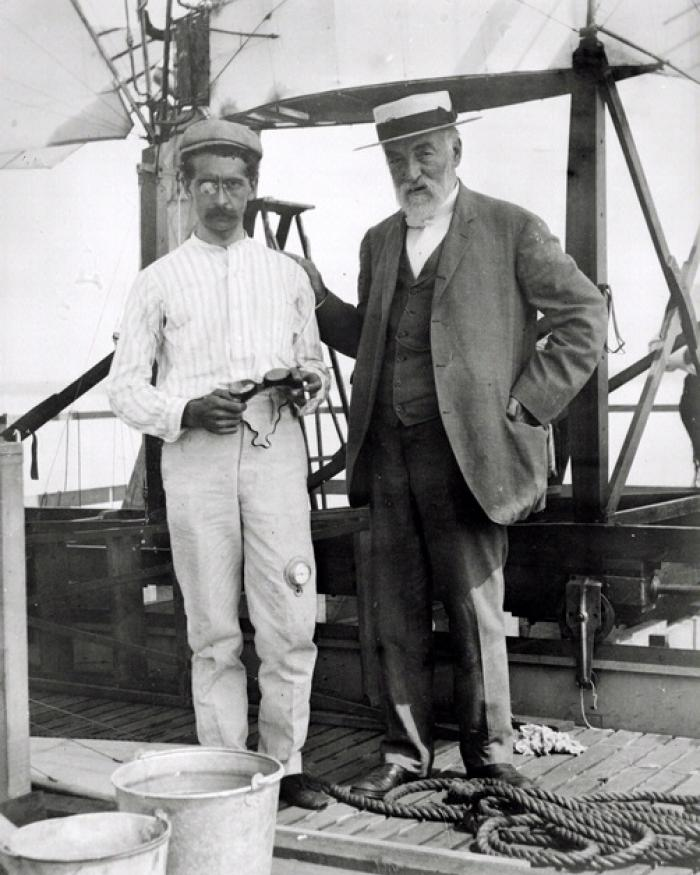 Samuel P. Langley and Pilot Charles Matthew Manley