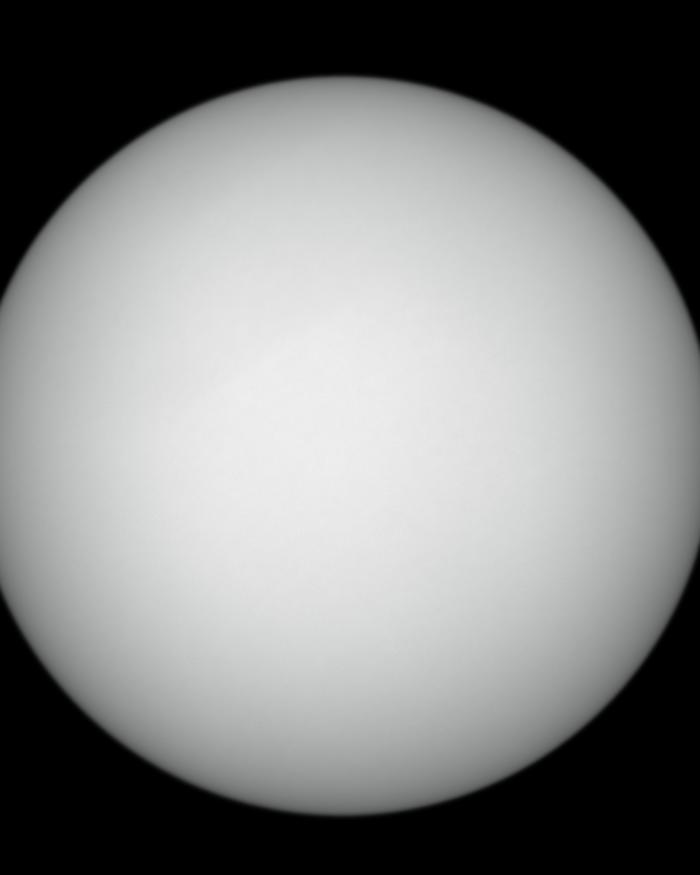 """The """"supersun"""" of January 2, 2018. Pictured, the blank surface of the Sun."""