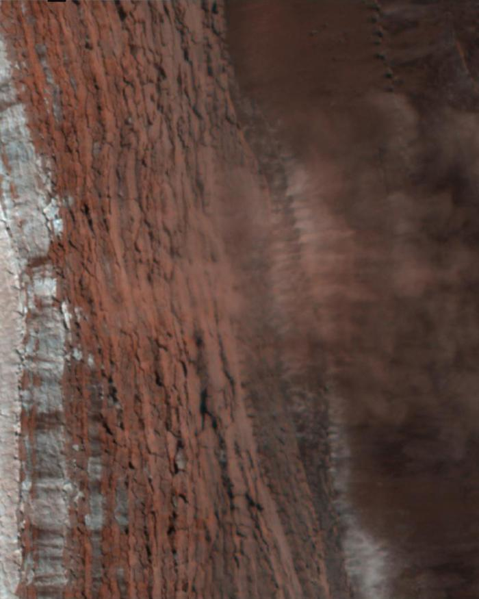 Avalanches on Mars