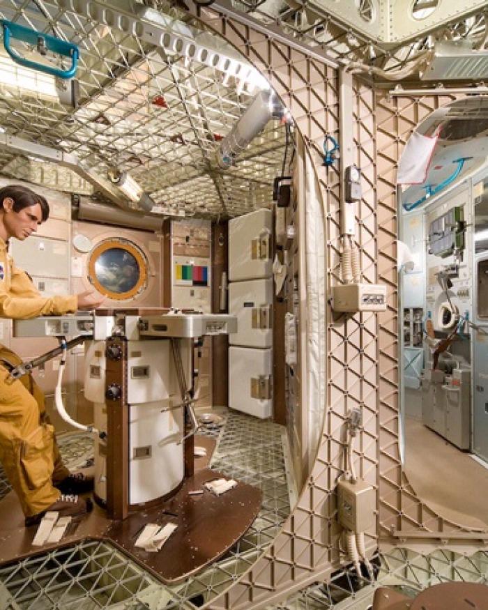 Inside Skylab Orbital Workshop