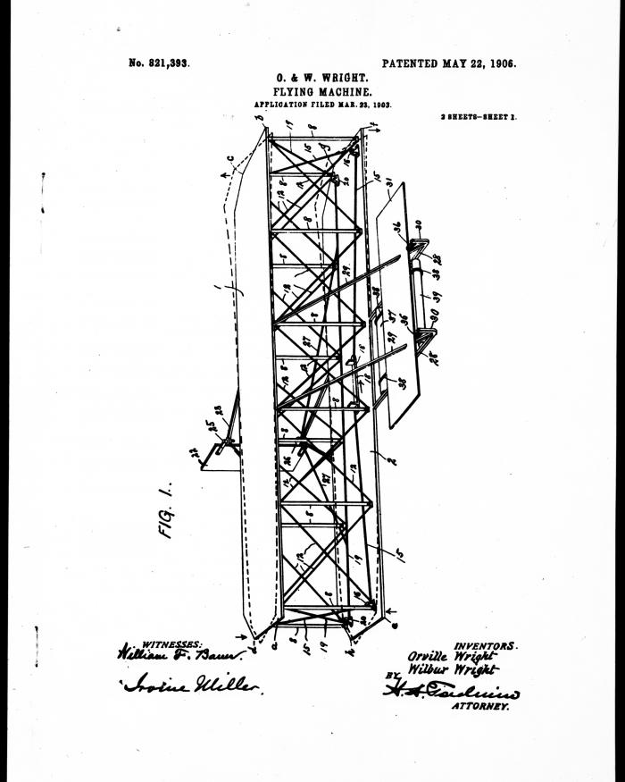 Wright Patent, First Page