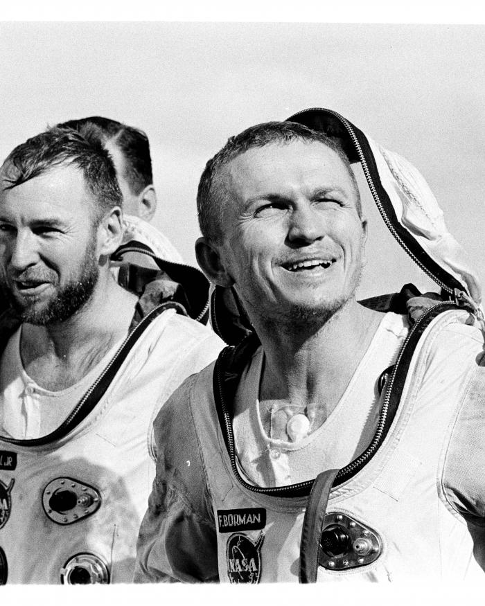 Astronauts Frank Borman & Jim Lovell After the Gemini VII Mission