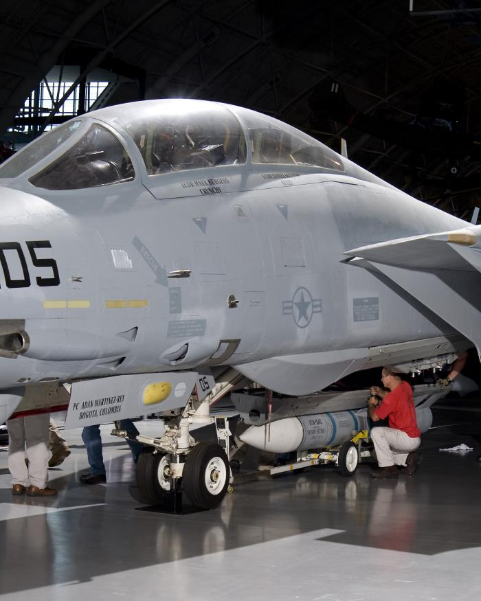 Grumman F-14D (R) at the Steven F. Udvar-Hazy Center