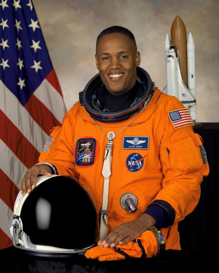 NASA astronaut Alvin Drew, mission specialist.