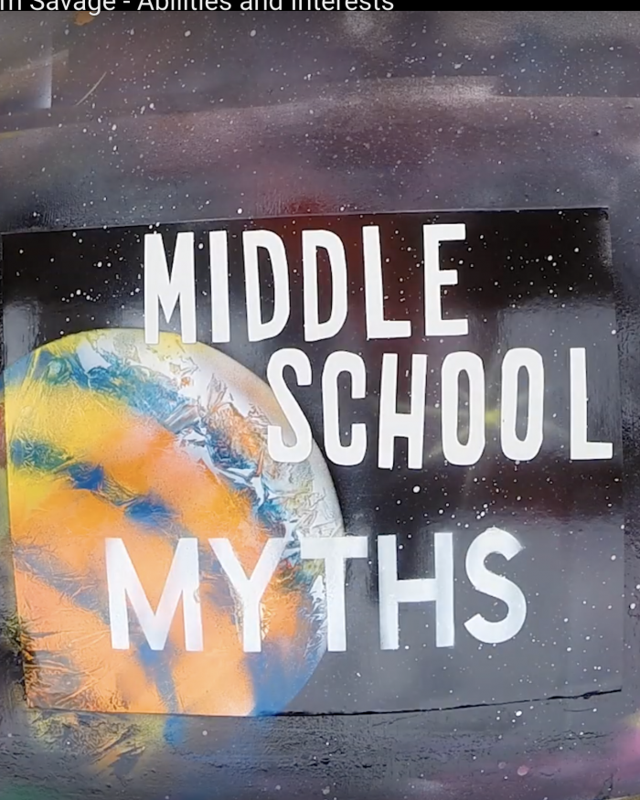 Middle School Myth logo spraypaint