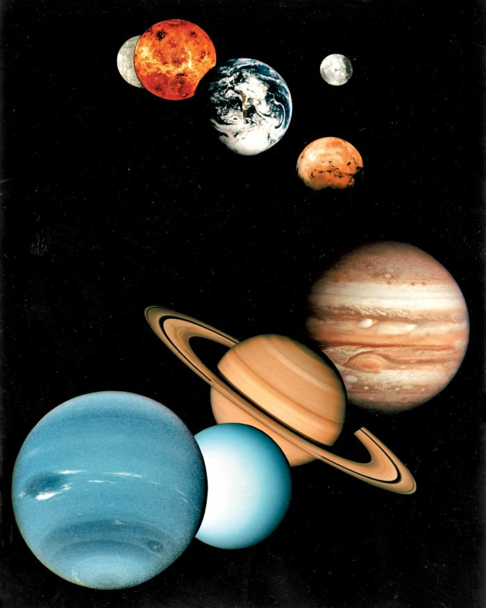 Planets and their moons in Exploring the Planets