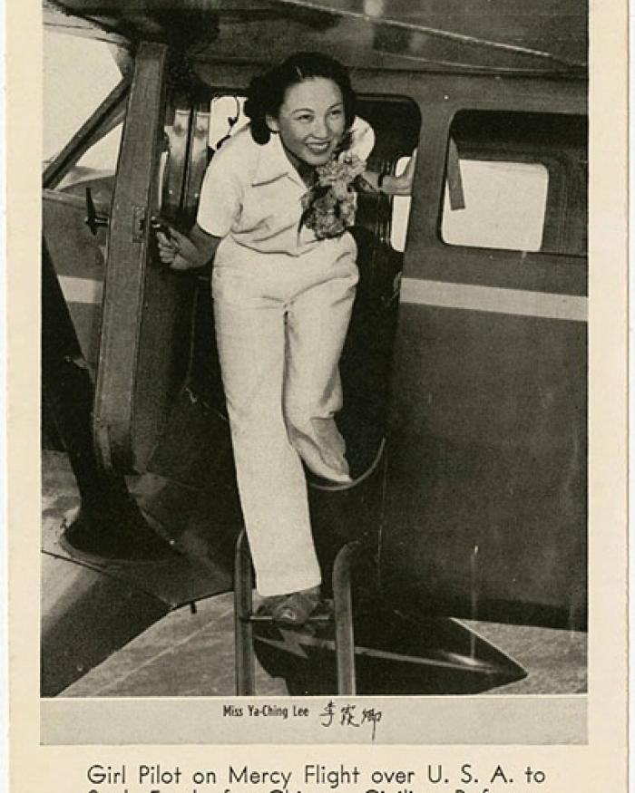 Lee Ya-Ching, Stinson SR-9B Reliant