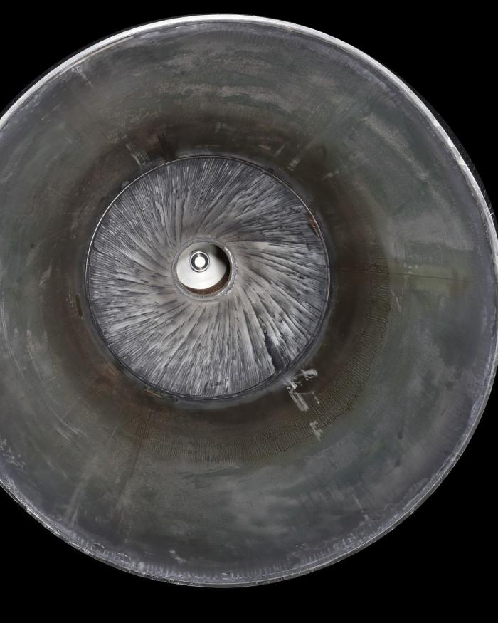 Metal circular inside of nozzle