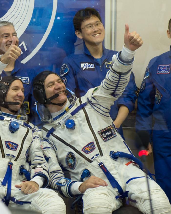 Astronauts Randy Bresnik and Paolo Nespoli