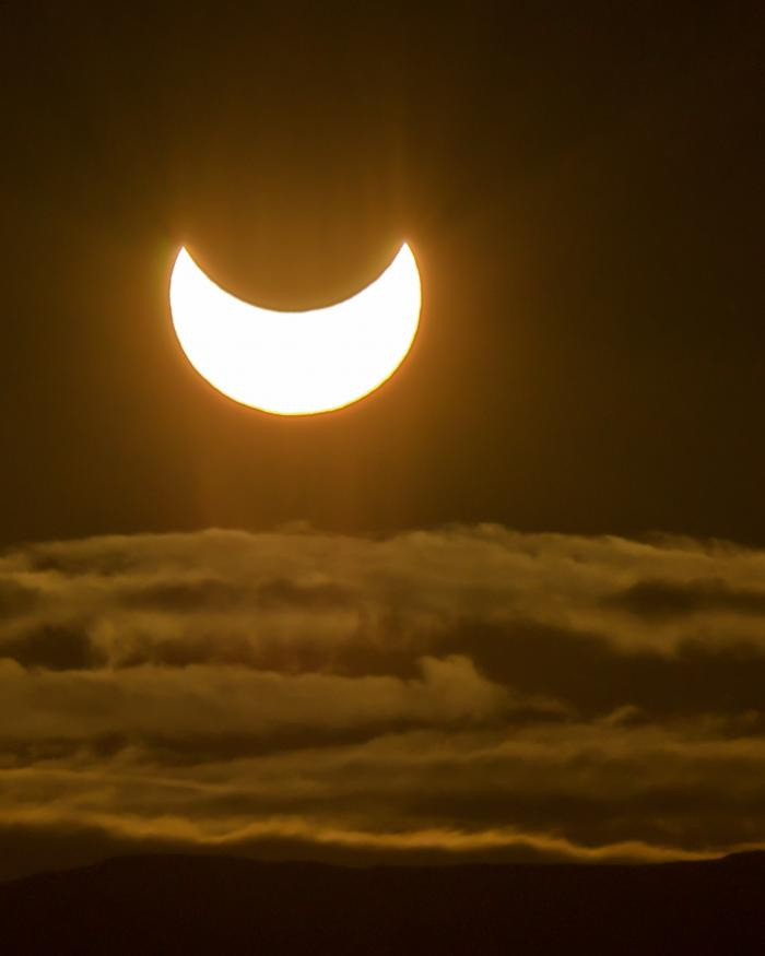 A partial eclipse.
